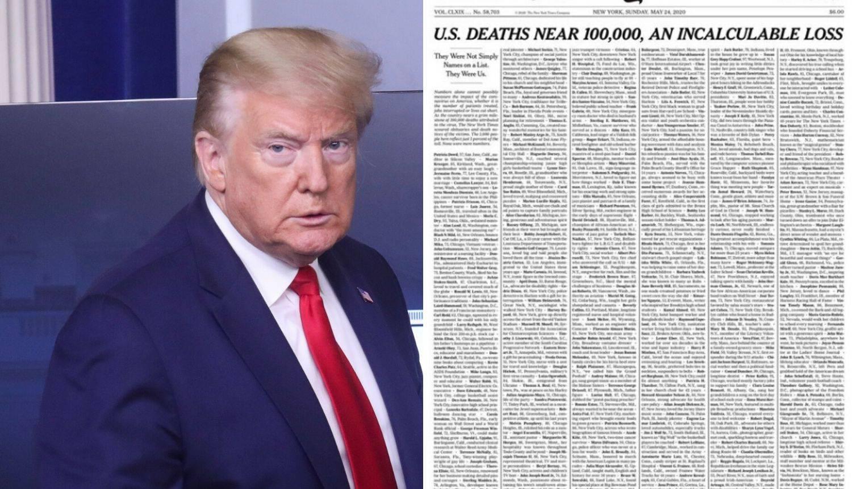NY Times na naslovnici objavio imena umrlih od korona virusa