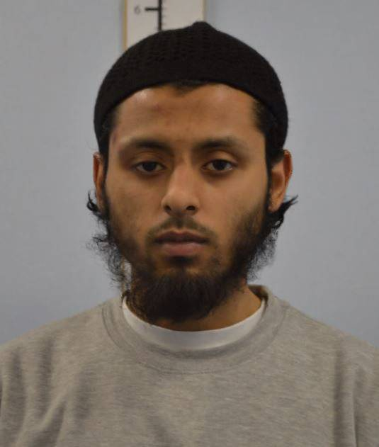 Umar Ahmed Haque is seen in an undated booking photograph handed out by the Metropolitan Police in London