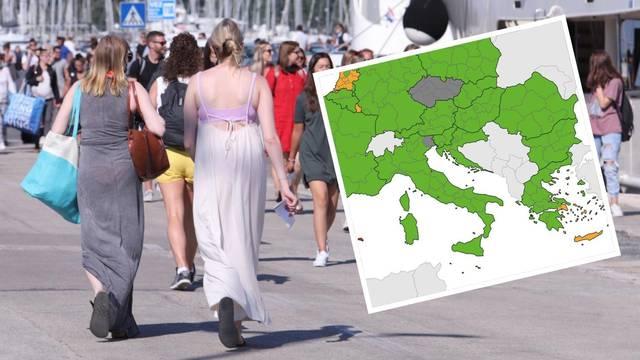 Objavili su novu koronakartu, Hrvatska je cijela u zelenom!
