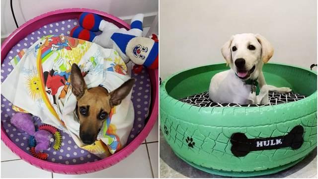 Od starih guma radi jedinstvene krevetiće za pse i mačke lutalice