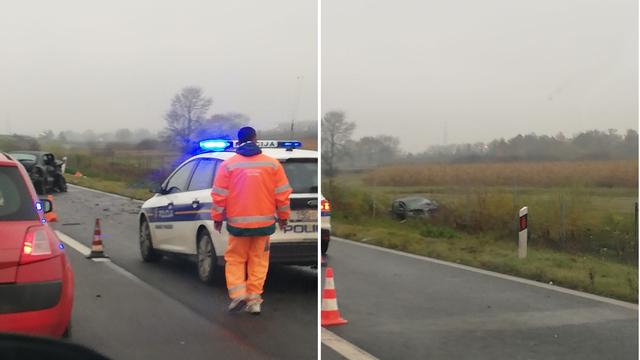 VIDEO Teška nesreća kod Svete Helene. Autom probio ogradu