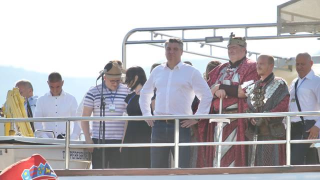 Predsjednik Milanović s broda pratio 23. Maraton lađa na Neretvi