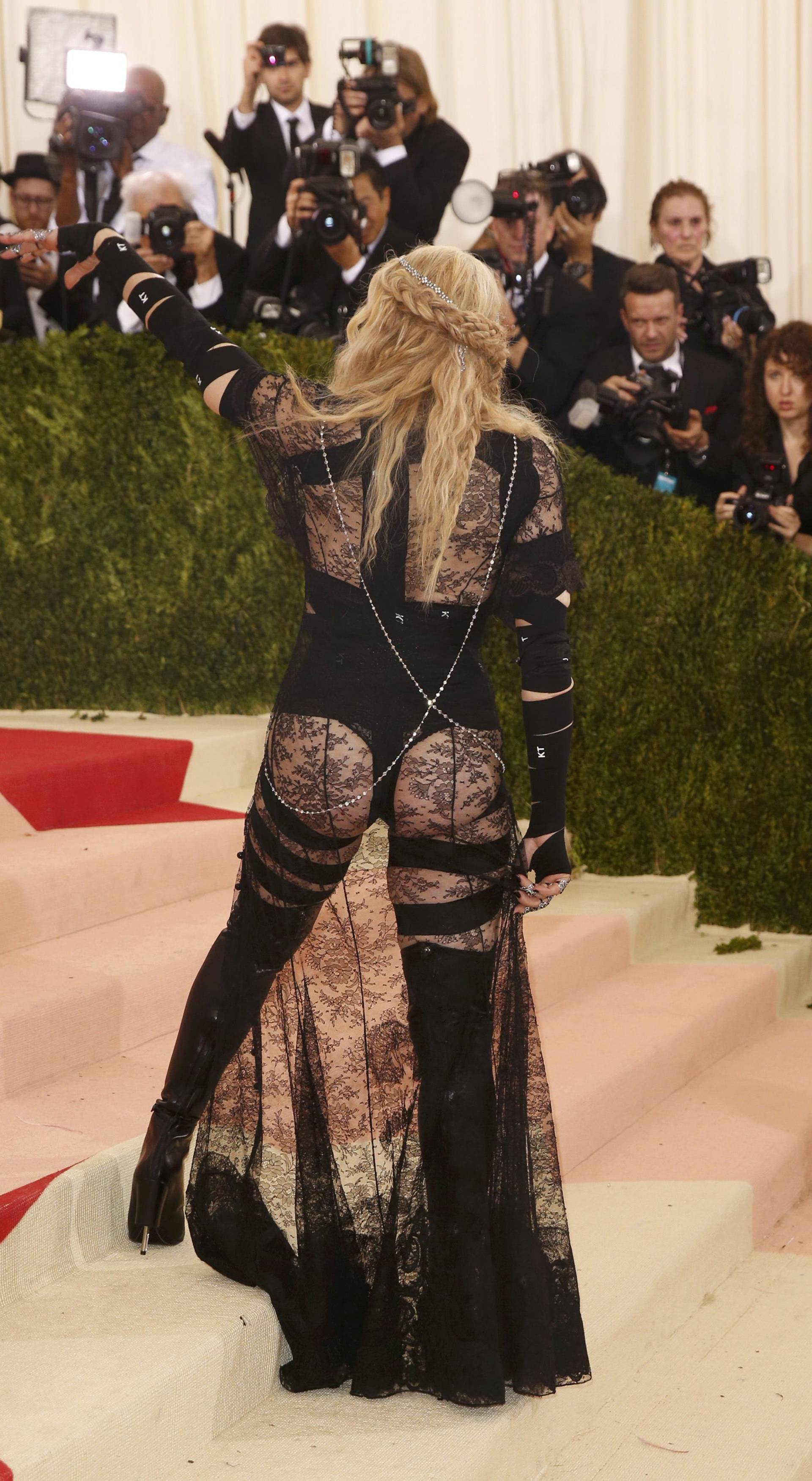 Singer Madonna arrives at the Met Gala in New York