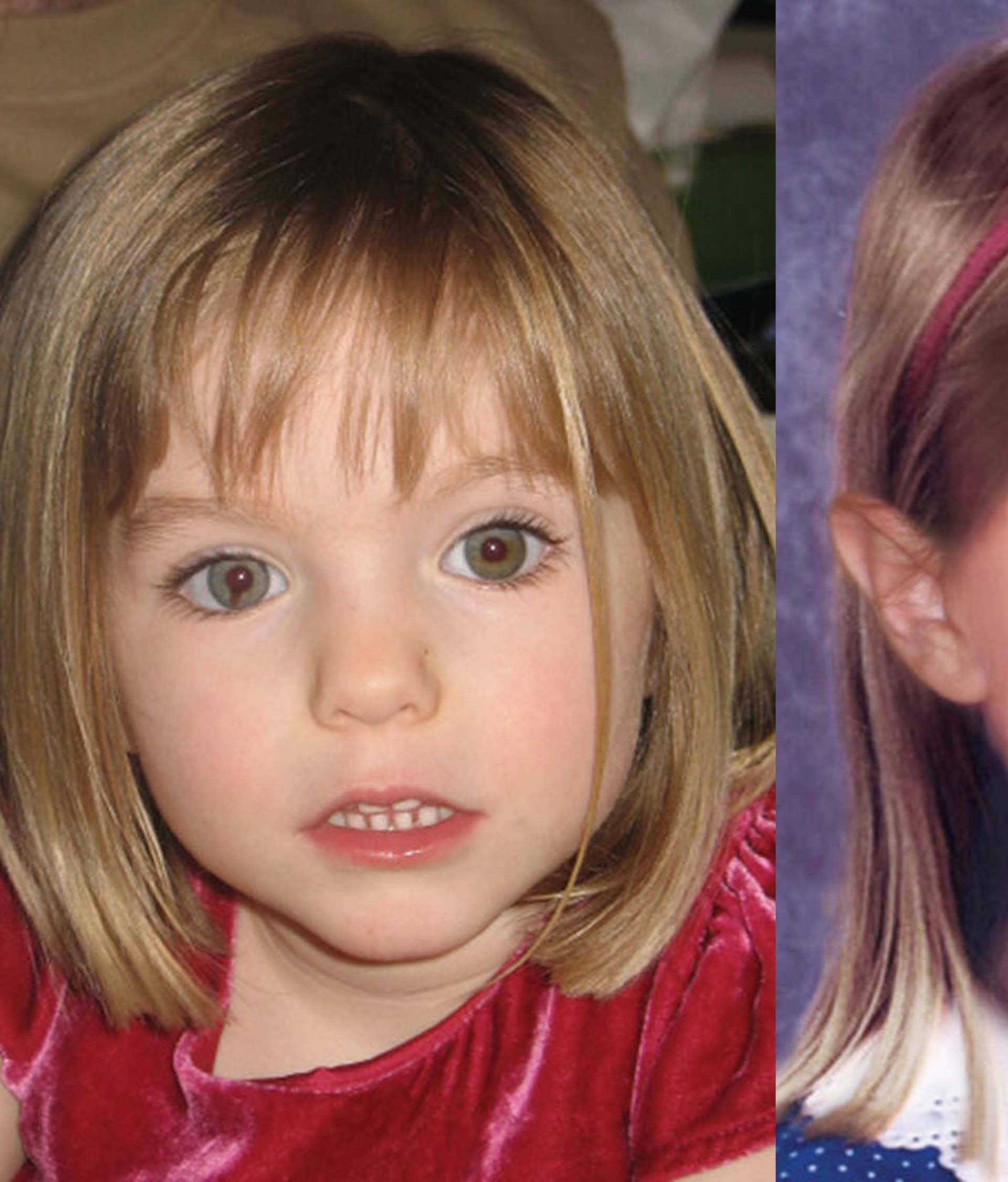A computer reconstruction of Madeleine McCann grown old of six years