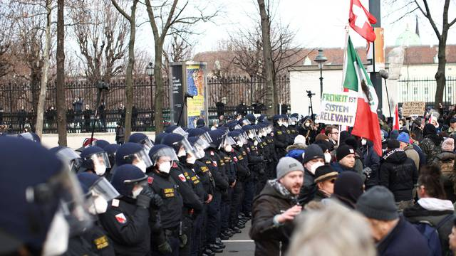 Demonstration against COVID-19 measures in Vienna