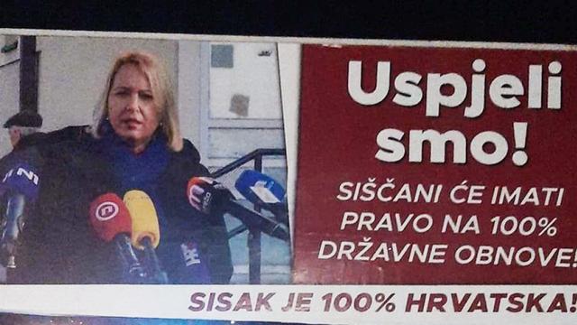 Gradonačelnica Siska ne miruje: Krenula s kampanjom za izbore 25 dana nakon strašnog potresa