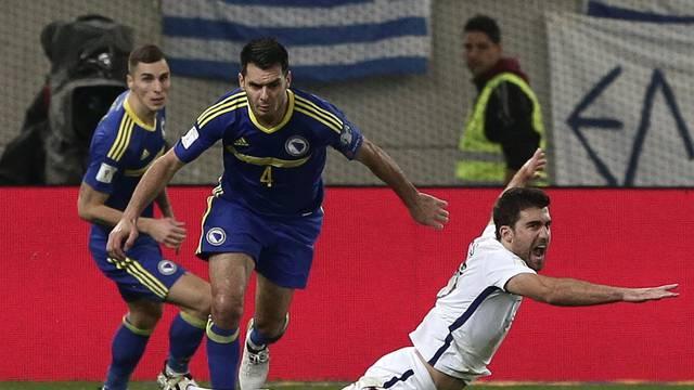 Football Soccer - Greece v Bosnia and Herzegovina - 2018 World Cup Qualifying European Zone