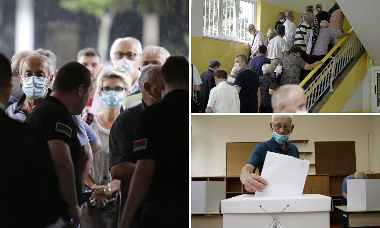 Gužve na biralištima u Mostaru od ranog jutra, svi nose maske