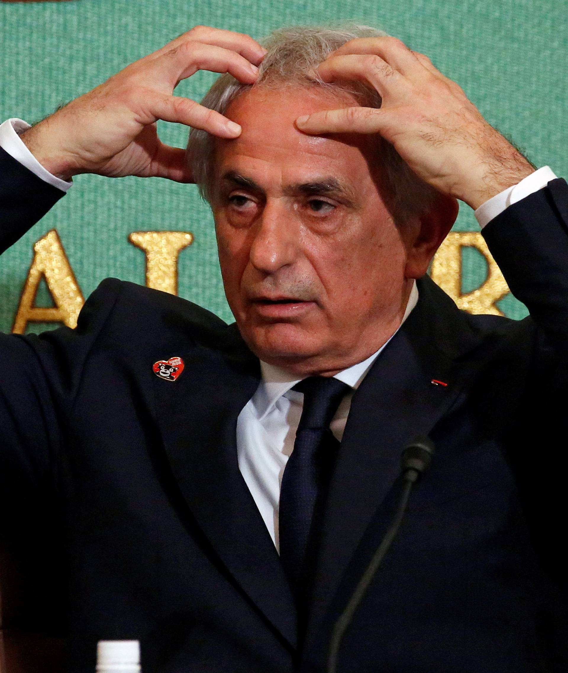 Vahid Halilhodzic attends a news conference at the Japan National Press Club in Tokyo
