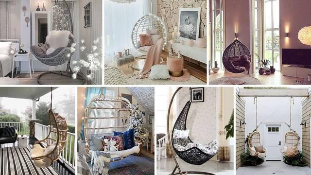 20 ideja: Gdje u domu staviti viseće stolice i kakve modele