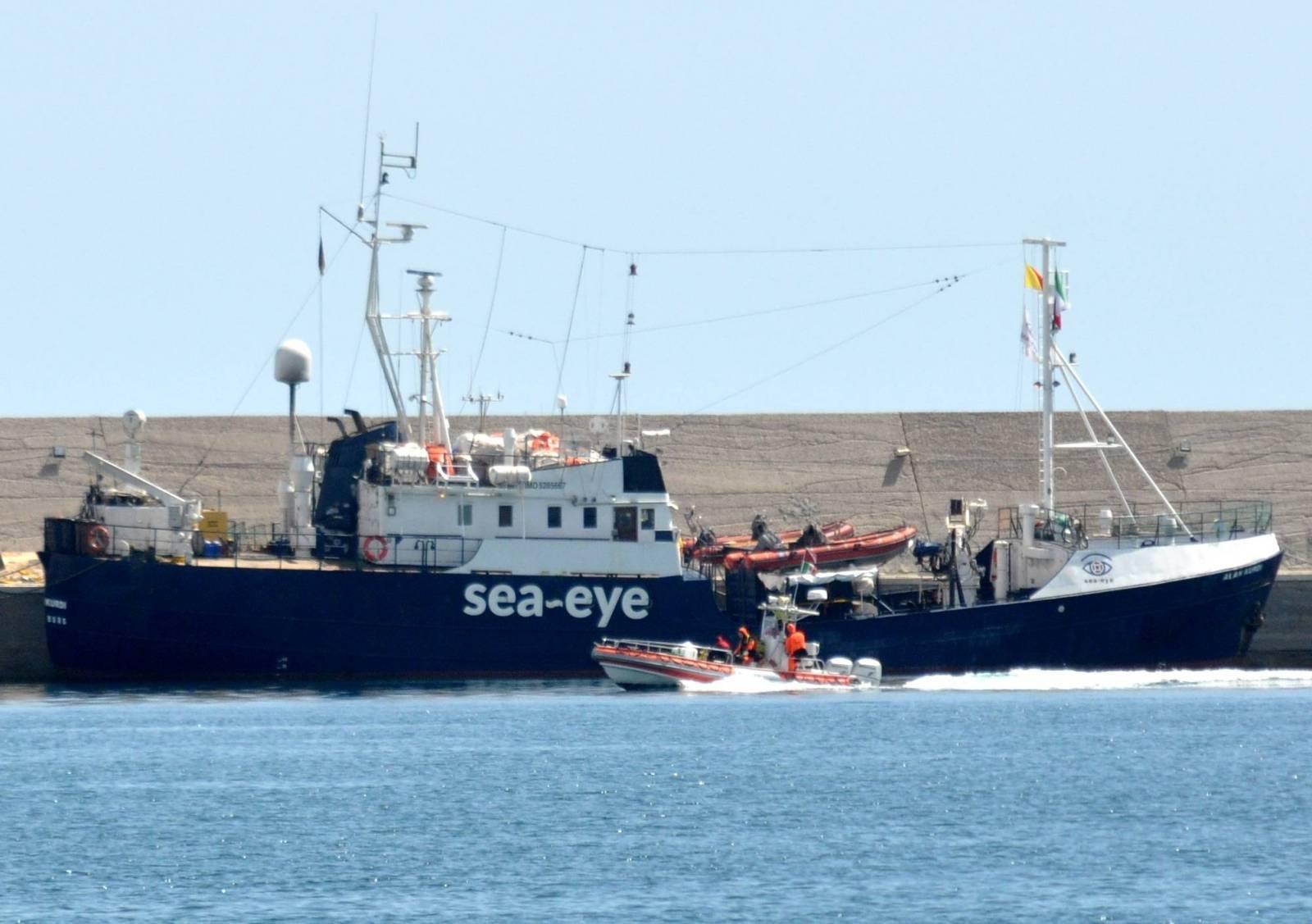 Alan Kurdi ship docked at the port subject to administrative detention