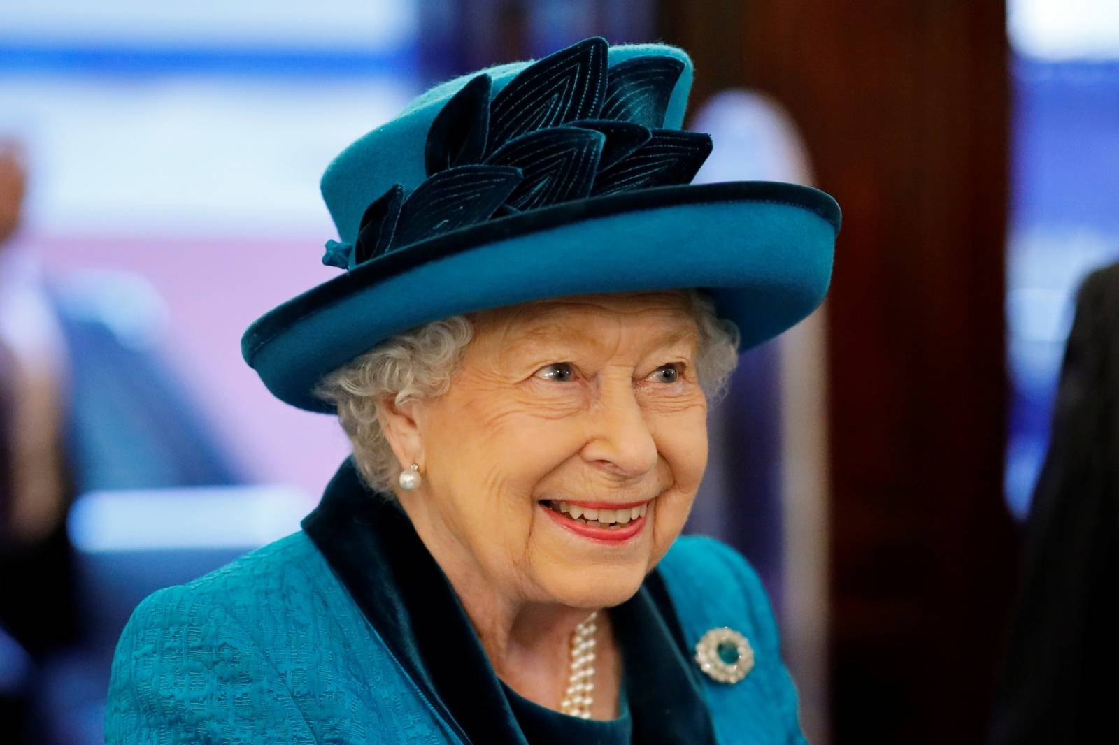Britain's Queen Elizabeth visits the Royal Philatelic Society in London