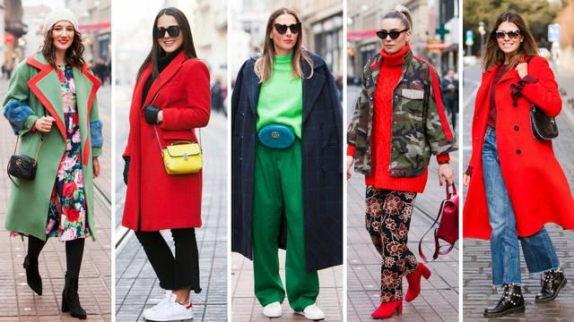 Pravo zimsko modno šarenilo: Crvena i zelena vole se javno