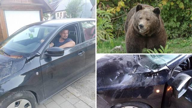 Napad medvjeda kraj Fužina: 'Skočio je na haubu. Zubima i šapama trgao je dijelove Škode'