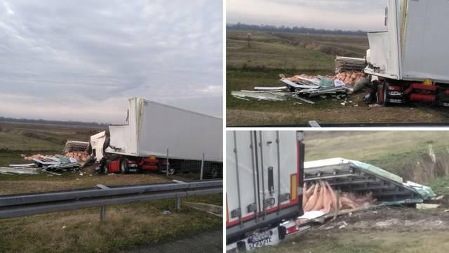Prevrnuo se kamion: Vozač je u teškom stanju, bori se za život