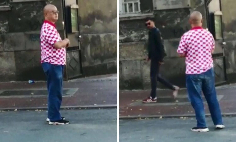 Azijac plijenio poglede u centru Beograda: Obukao je šahovnicu