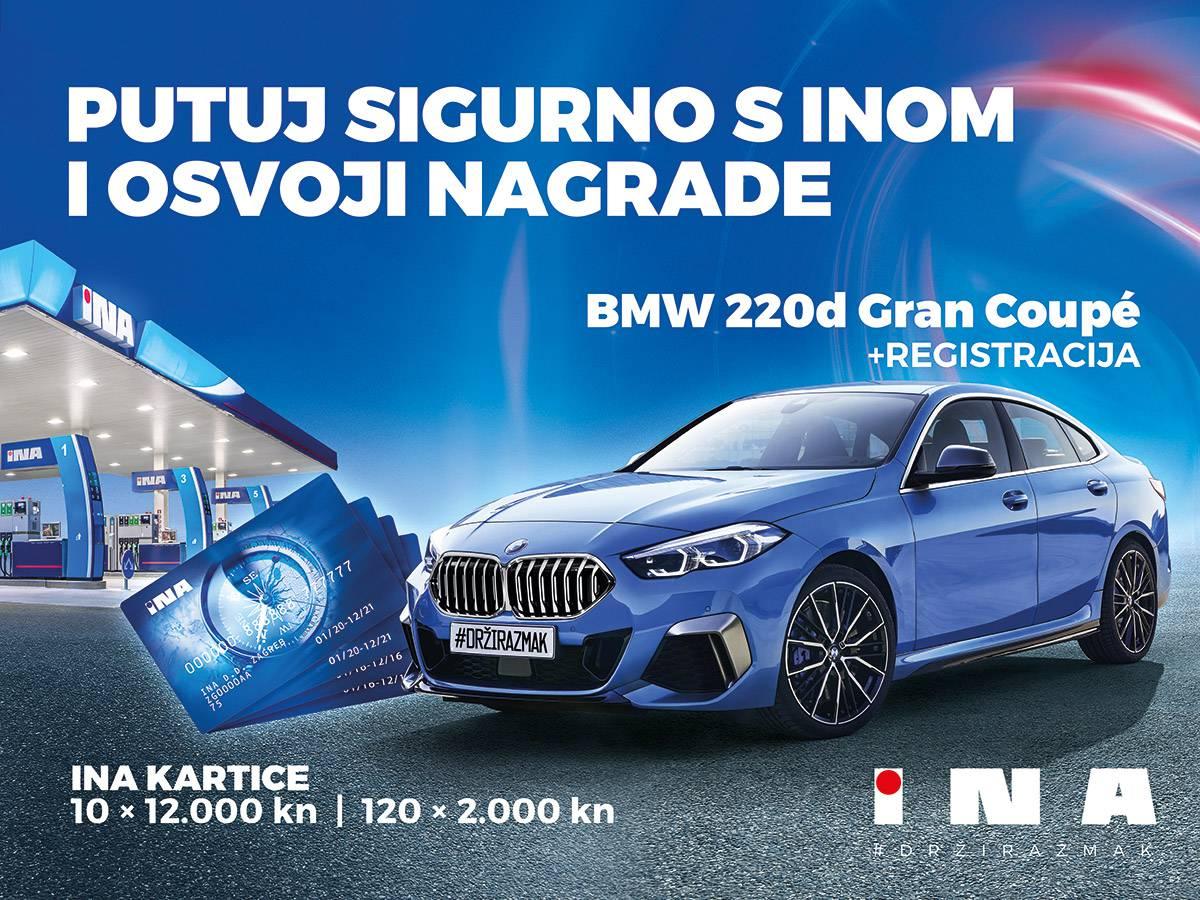 Osvojite BMW Gran Coupe putem Inine SMS nagradne igre!