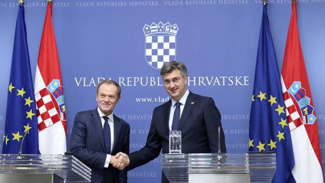 Zagreb: Andrej Plenković i Donald Tusk dali izjavu medijima nakon sastanka