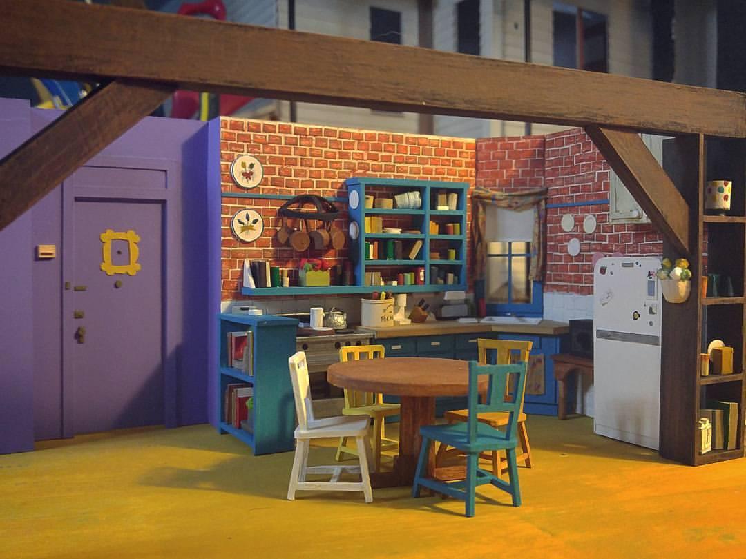 Umjetnik izrađuje makete soba, kućica i dvoraca: Napravio je Monicinu kuhinju iz 'Prijatelja'