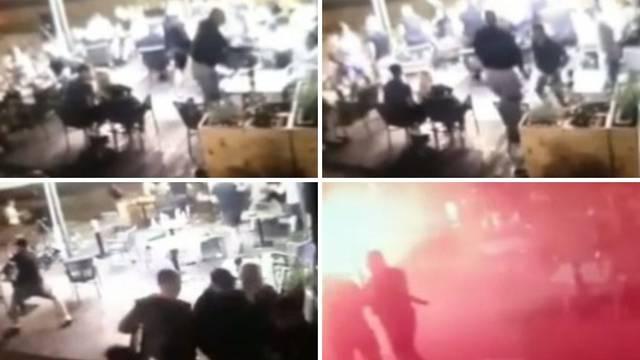 VIDEO Nadzorna kamera snimila početak tuče Bad Blue Boysa i poljskih huligana u Dubravi