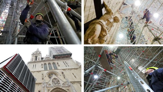 Skela koja štiti Katedralu: Čak 18  majstora postavljalo ju je danima. Bez ijedne psovke...