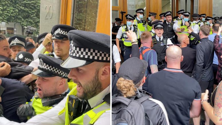 Antivakseri pokušali upasti u zgradu agencije za lijekove u Londonu, ozlijedili policajce