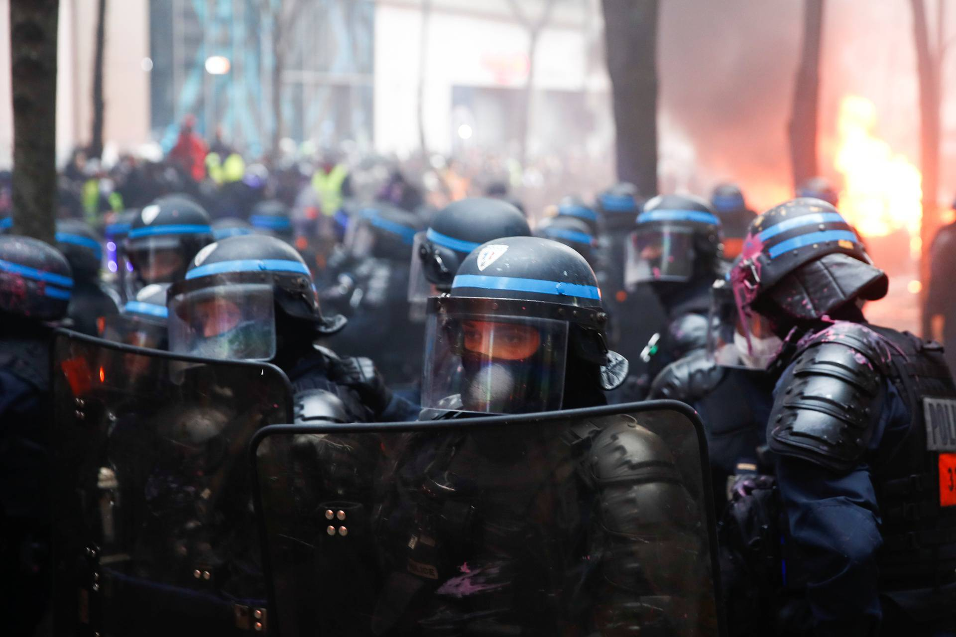 Demonstration against the 'Global Security Bill' in Paris