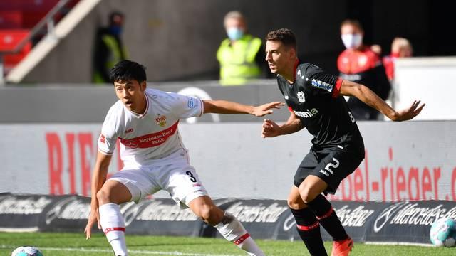 Soccer 1. Bundesliga / VFB Stuttgart-Bayer Leverkusen 1-1.