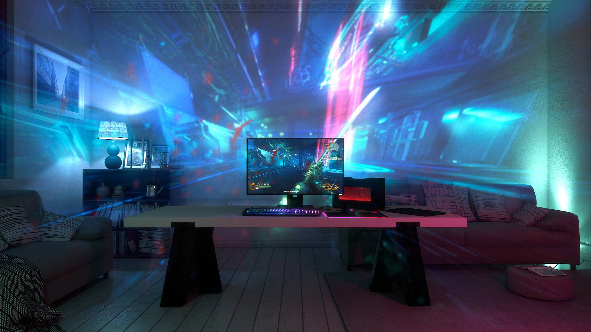 Uz ovaj projektor cijela soba pretvorit će se u svijet iz igara