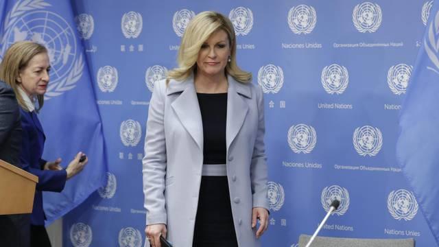 Presser by Kolinda Grabar Kitarovic President of Croatia