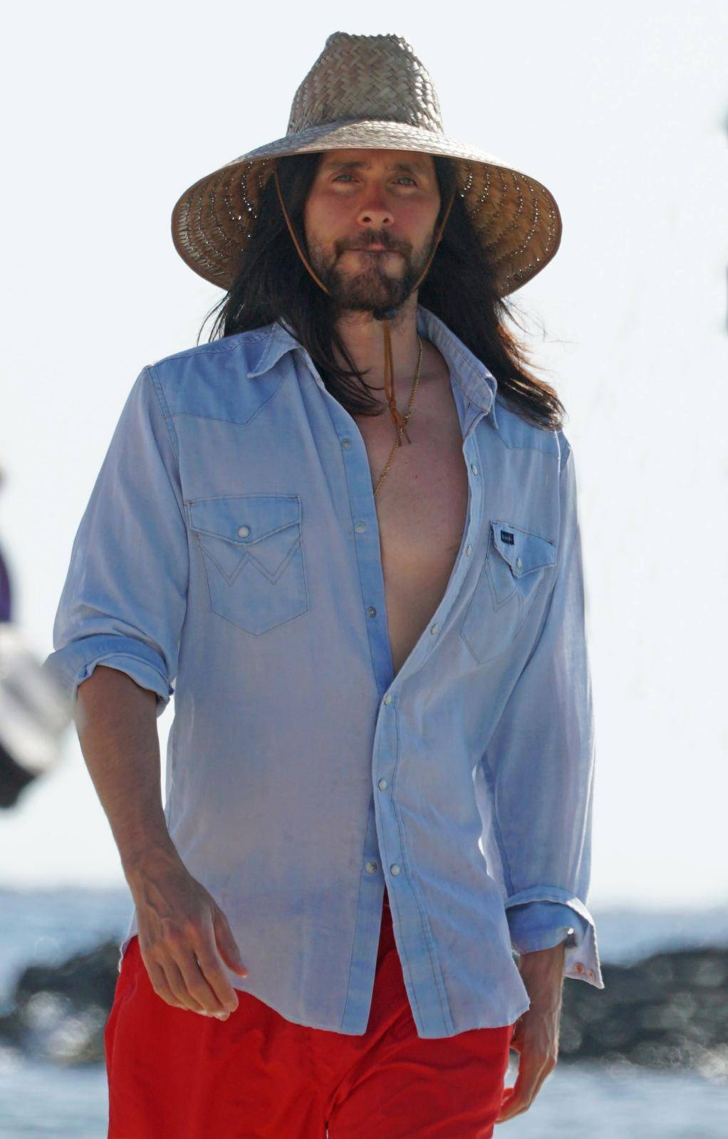 Non Exclusive: Jared Leto holidays Ibiza