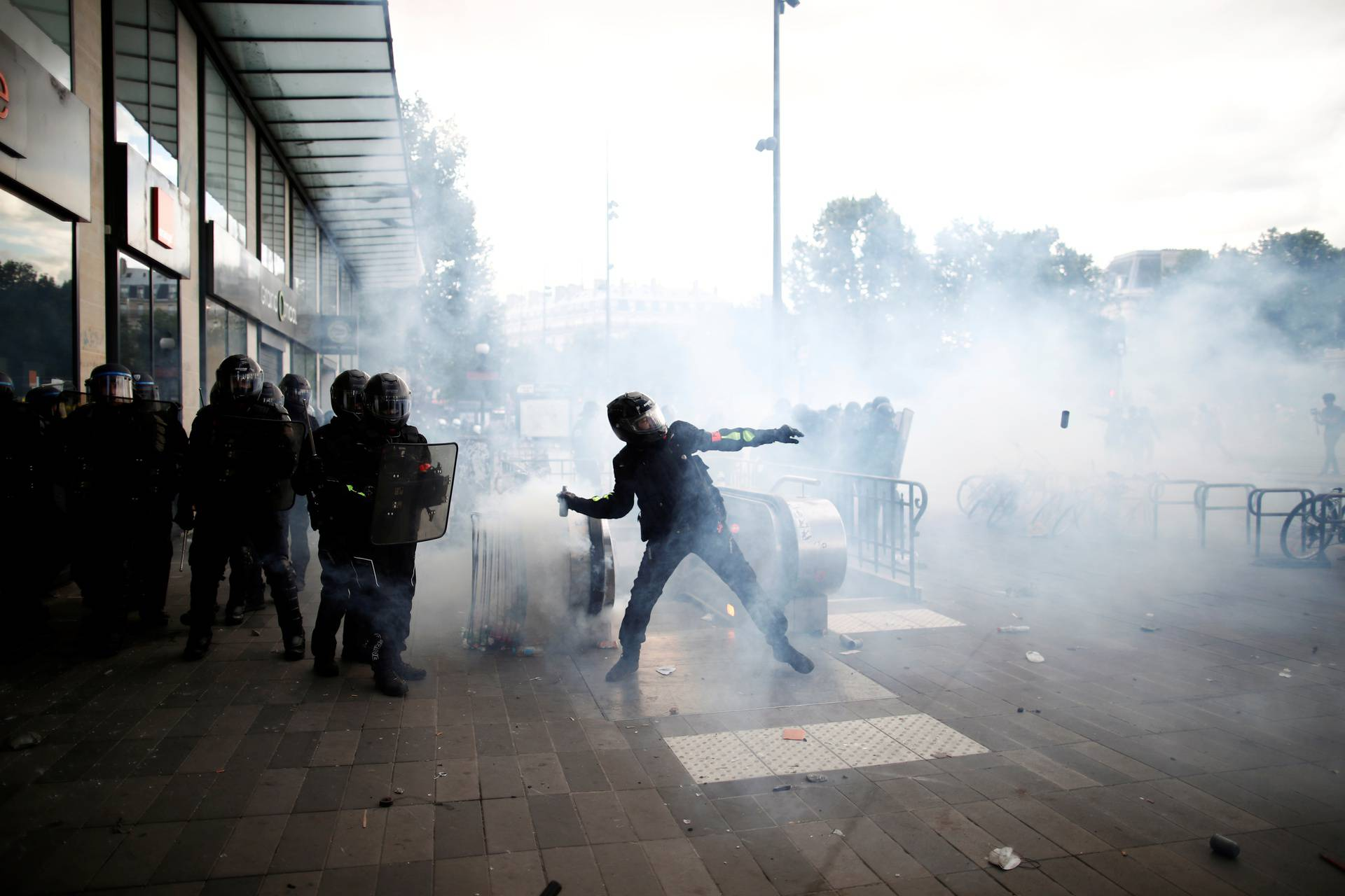 Protest against police brutality in Paris