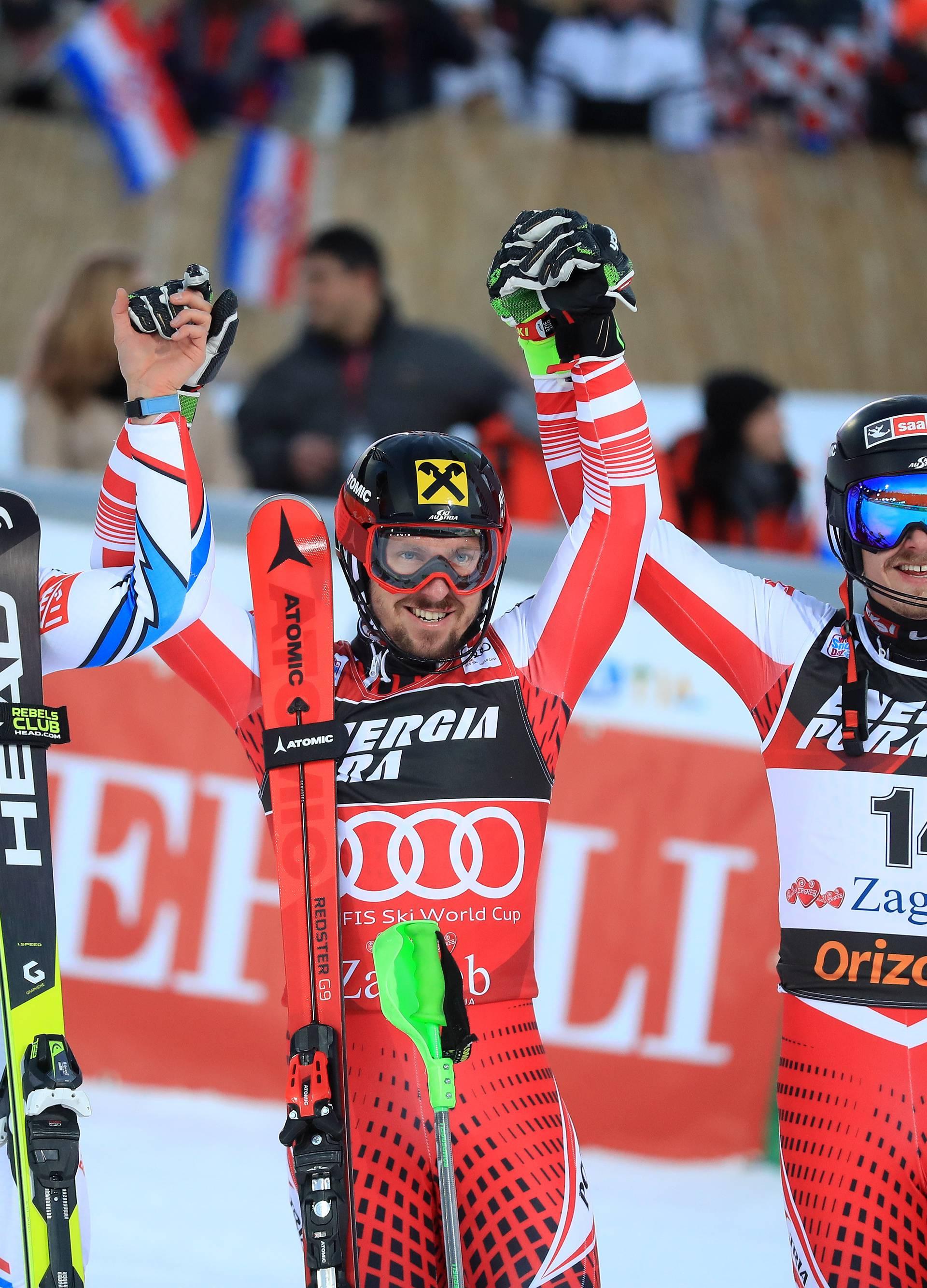 Zagreb: Druga vožnja muškog slaloma Snow Queen Trophy 2019.