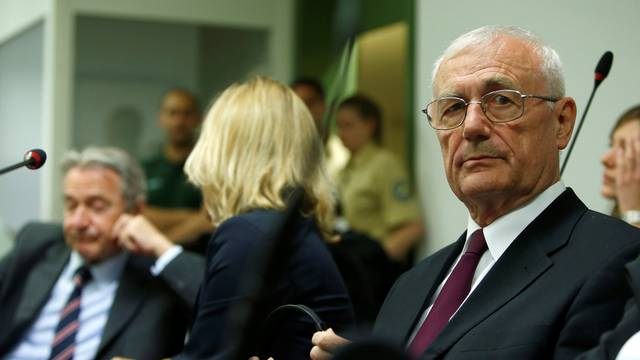 Defendants Mustac and Perkovic, former members of Yugoslav secret service await trial in Munich