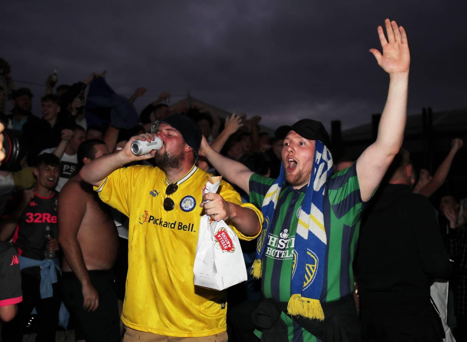 Championship - Leeds United celebrate promotion to the Premier League