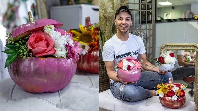 Slaven iz Osijeka radi jesenske hit bukete: Bojam bundeve pa u njih stavljam prekrasno cvijeće