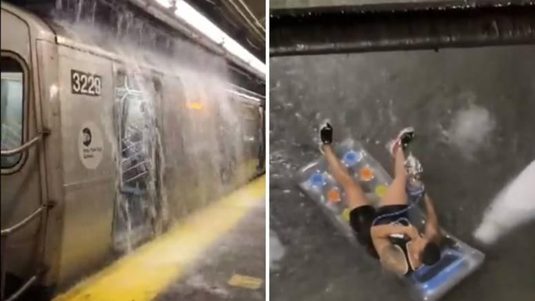 Nevjerojatne snimke: New York kao u filmu 'Dan poslije sutra', a on u Bronxu pliva na luftiću
