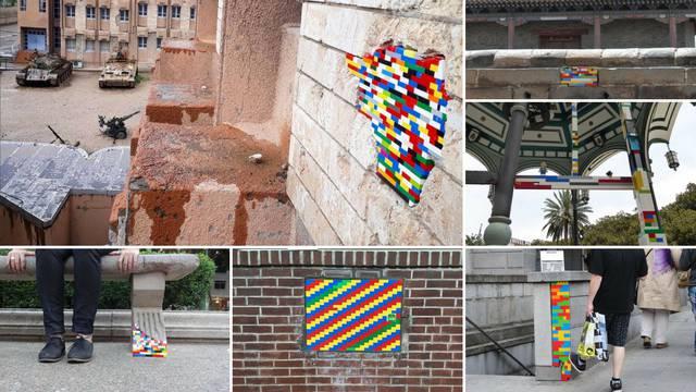Umjetnik diljem svijeta Lego kockicama popravlja građevine