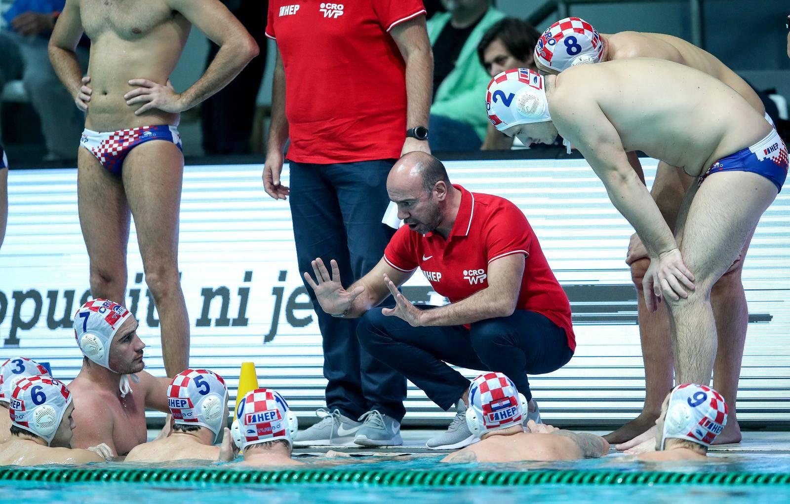 Zagreb: Prijateljska vaterpolo utakmica između reprezentacije Hrvatske i Rusije