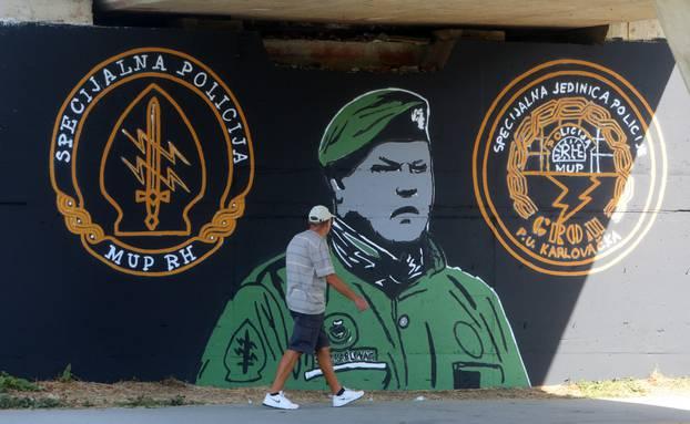 Karlovac: Mural mu napravili ispod mosta na kojem je ubio zarobljene  rezerviste JNA | 24sata