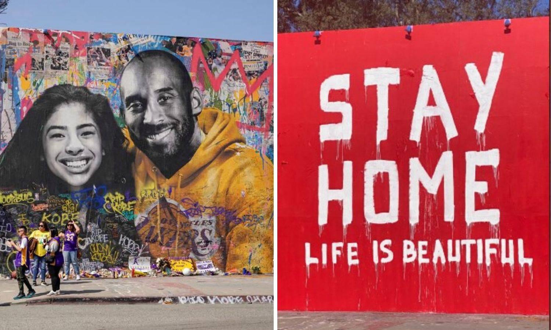Javnost u šoku: Preko murala Kobeju napisao 'ostani doma'