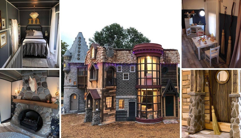 Baka i djed darovali unuci (2) kućicu u stilu Harryja Pottera