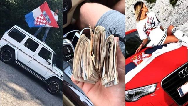 Cajke, zastave, bijesne vozilice: Tako žive bogati klinci Balkana