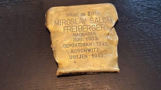 Oštećen 'kamen spoticanja' u čast žrtvama Holokausta