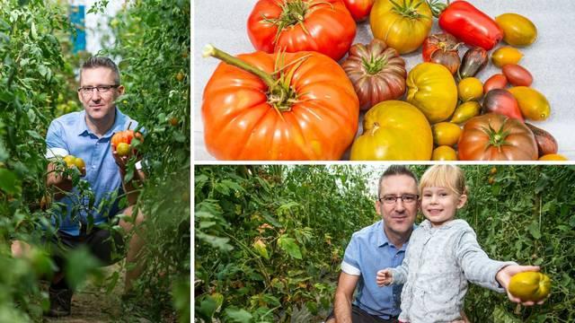 Naš 'šaptač rajčicama' uzgaja više od 100 sorti, a dvije zelene sorte nazvao je po kćeri - Erika