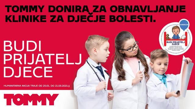 """Tommy je u suradnji s KBC Split pokrenuo humanitarnu akciju """"Budi prijatelj djece"""""""