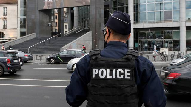 FILE PHOTO: Police operation near the former offices of Charlie Hebdo in Paris