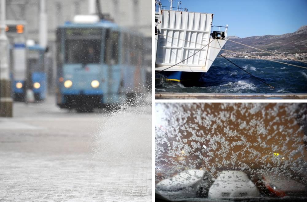Zaleđena Hrvatska: Ispod nule čak i na moru, bura radi kaos