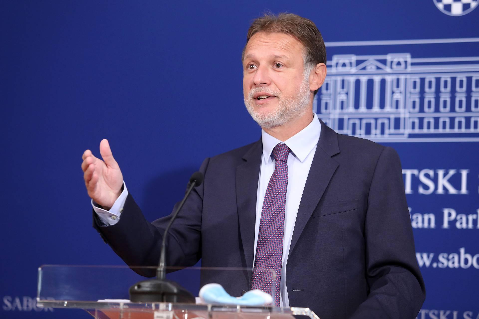Zagreb: Gordan Jandroković dao izjavu nakon sjednice Predsjedništva Sabora