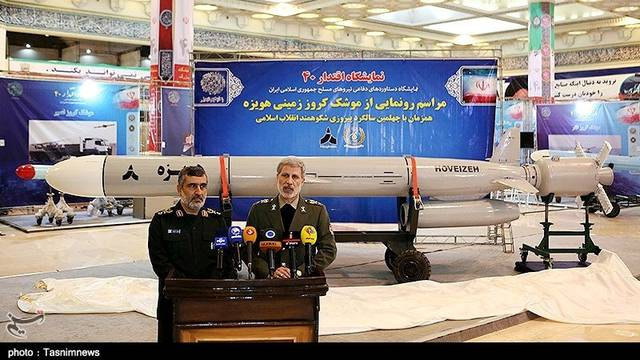 FILE PHOTO: Iran's Defence Minister Amir Hatami speaks during the unveiling ceremony at an exhibition in Tehran